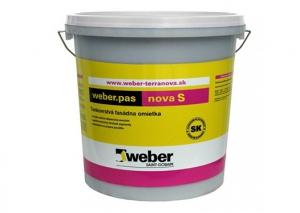 Fasádna pastovitá omietka Weber. pas nova S 2mm zrno, roztieraná